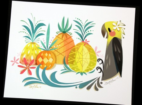 Bird and Pinapples