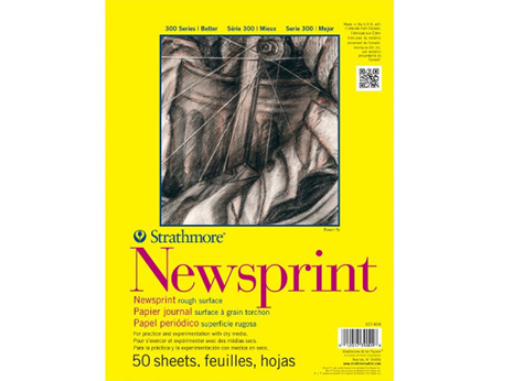 Strathmore Large Newsprint Pad of 50 Sheets