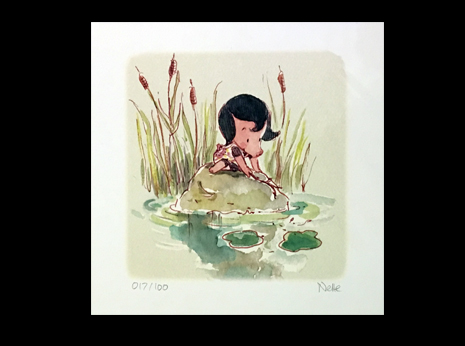 Jane with Lily Pads