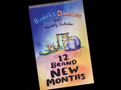 Buddha Doodles - 2017 Monthly Calendar Limited Edition